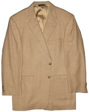 PREOWNED MINOR IMPERFECT BURBERRY LONDON 100% CASHMERE CAMEL JACKET 44R 44 R