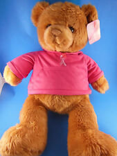 """Gund 20"""" Pink Ribbon Breast Cancer Awareness Bear Macy's Mint With Tag"""