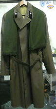 SOVIET ARMY OFFICER'S GREEN WINTER OVERCOAT W/ SCARF & CAP TRANSPORTATION EUC