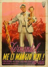 MANIFESTO, ME LI MANGIO VIVI Le boulanger de Valorgue FERNANDEL, AFFICHE 1953