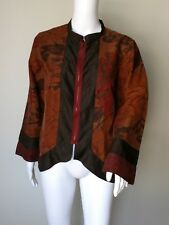 Citron Santa Monica silk jacket womens sz S coat top shirt nwot