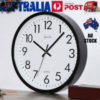 26cm Large Vintage Round Modern Wall Clock Home Bedroom Kitchen Quartz Silent AU