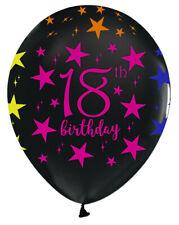 18 Geburtstag Luftballons Gold,Schwarz,Silber  Latexballon 6 St Ø27,5 NEU