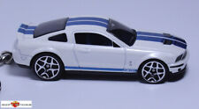RARE KEY CHAIN 07~14 WHITE & BLUE FORD SHELBY MUSTANG GT500 NEW LIMITED EDITION