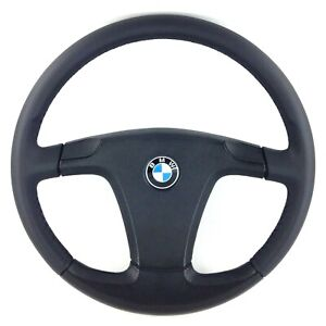 Genuine BMW 6 series E24 black leather sport steering wheel. NEW leather. 16D