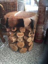 Hocker Vintage Hocker Sitzhocker Vintagehocker Landhausstyle Fell
