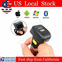 Wearable 1D Ring  Bluetooth Laser Barcode Scanner Data Reader For Phone Windows