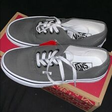 New Vans Authentic Grey Pewter Black Shoes US 9 with Box
