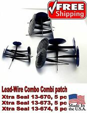 Xtra Seal Lead-Wire Combo 15 Pc total Combination Tire Plug Patch Repair 3 sizes