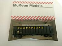 HO scale McKean Chesapeake Hopper car built from Kit