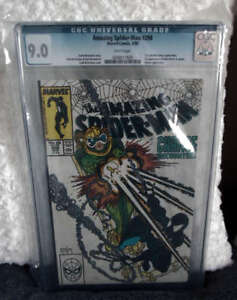 Marvel comics Spiderman 298 Eddie brock venom CGC white pages 9.0