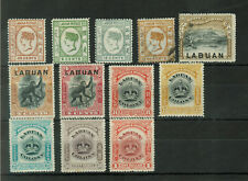 North Borneo and Labuan High Value Lot of 12 MH and Used Stamps #1047