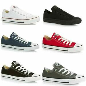 Converse All Star Low Tops Trainers Mens Womens Chuck Taylor Canvas Shoes White