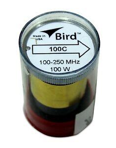 Bird 43 Wattmeter Element Slug 100C 100-250 MHz 100W New