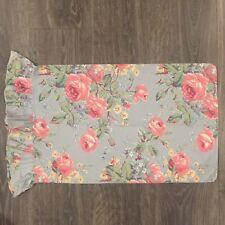 ❤️ RALPH LAUREN Garden Gambler Blue Cottage Floral Ruffled Standard Pillowcase