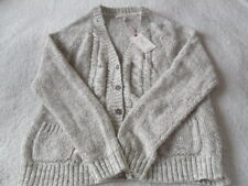 EX Fat Face Chloe Natural Marl Cable Contrast Knit Cotton Blend Cardigan 6 - 18 12