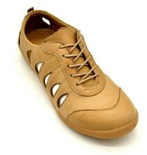Spring Step Womens Cut Out Konak Leather Lace Up Shoe US Size 7.5-8 Beige NEW