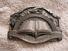 Vintage Word of God Living and Powerful Belt Buckle Siskiyou