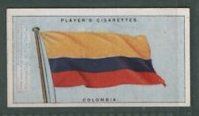 The Flag Of Colombia 1920s Ad Trade Card
