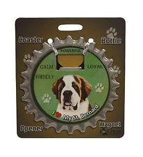 Saint Bernard dog coaster magnet bottle opener Bottle Ninjas St.