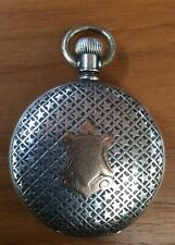 Waltham Pocket Watch Rare Case 1891 Double Hunter Gold Hands