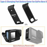 Type-C Rechargeable Battery Cover Side Door For GoPro Hero 9 Black Sports Camera