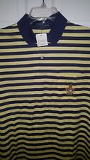 New listing 90's Vintage Polo By Ralph Lauren Striped Yellow/Navy Shirt Dead Stock