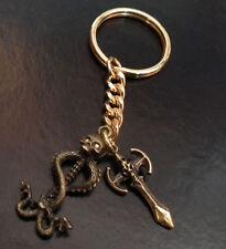 Skull & Snakes and Skull Axe Bikers KEYRING KEY RING Gift Chain Goth Gothic LGW