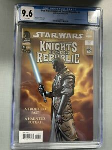STAR WARS KNIGHTS OF THE OLD REPUBLIC #9 CGC GRADED 9.6 WHITE PAGES 1ST REVAN
