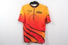 SUGOI Mens Medium Half Zip Cycling Bicycling Racing Pocket Jersey Shirt Orange