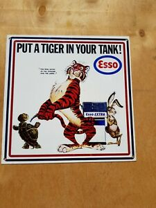 """PUT A TIGER IN THE TANK/ ESSO 12"""" x 12""""  MAN CAVE/ GARAGE/ SHED"""