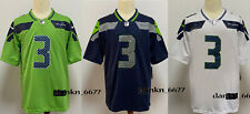 Men's Seattle Seahawks Russell Wilson #3 Jersey Stitched