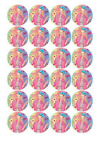 24 JOJO Siwa 4cms Edible Wafer Paper Cupcake Cup Cake Decoration Toppers Images