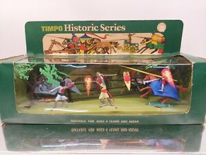 Rare Timpo Plastic Knights Jousting Set 435 boxed