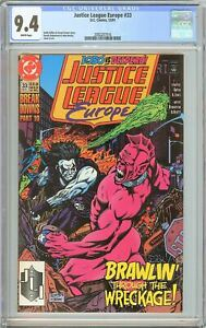 Justice League Europe #33 CGC 9.4 White Pages 2092207016
