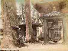 Japon, Revolving Lantern, Nikko  Vintage albumen print, Japan Tirage album