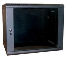 """12U 19"""" Network Cabinet Rack Wall Mounted 600*390mm Black Data Comms Patch Panel"""