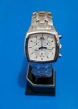 time force watch swiss chronogaph full steel size 37,1X37,1mm,silver luminous