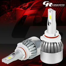 2 PCS 6000K 9006 WHITE LED HIGH/LOW BEAM HEADLIGHT REPLACEMENT BULB +COOLING FAN