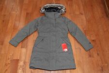 New The North Face Womens Arctic Down Parka Jacket Coat Graphite Grey Heather S