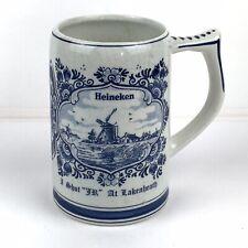 G.K.B. Delft Blue Heineken Beer Stein Mug Tankard Lakenheath Vintage Holland