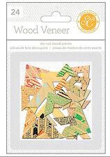 Studio Calico WANDERLUST (24) WOOD VENEER CORNERS scrapbooking