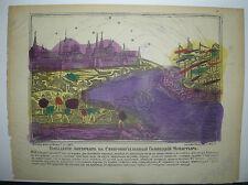 LOUBOK - IMAGERIE POPULAIRE RUSSE de 1887 - Bombardement de SEBASTOPOL en 1854