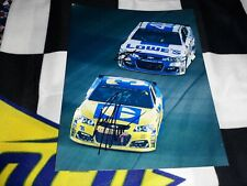 JIMMIE JOHNSON & RYAN NEWMAN SIGNED THROWBACK ON TRACK 8 X 10 PHOTO