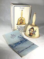 Hummel Annual Bell, 1982, 5th Edition, Boy w Flower, Handcrafted, Designed 1978