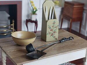 Dollhouse Miniature Artisan Hammer N Smith Bowl Utensils Kitchen Lot 1:12