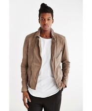 NEW YOUR NEIGHBORS DISTRESSED LEATHER MOTO JACKET MEN'S SMALL