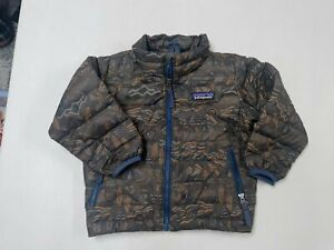 PATAGONIA BETTER SWEATER DOWN FULL ZIP COAT  CRITTERS BOYS  SZ  12 18  MS   LNW