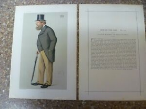 AN ORIGINAL OCT 30th 1875 'VANITY FAIR' PRINT 'GUARDS' By 'APE' PLUS BIOGRAPHY