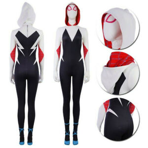 Spider-Man Into the Verse Gwen Stacy Spidergirl Girl Jumpsuits Costume Cosplay